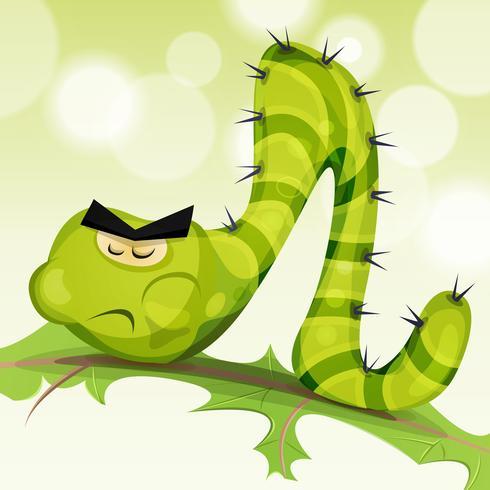 Rolig Caterpillar karaktär vektor