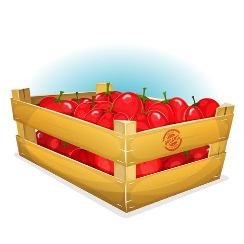 Crate med tomater vektor