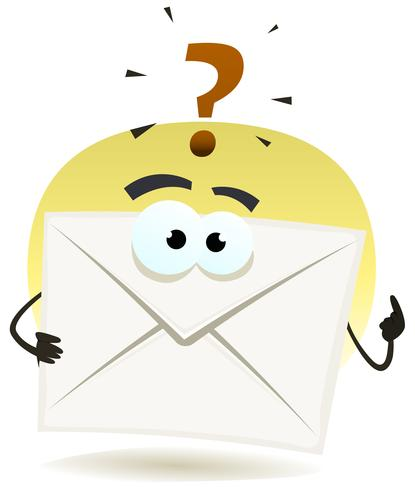 Frage per E-Mail-Symbol vektor