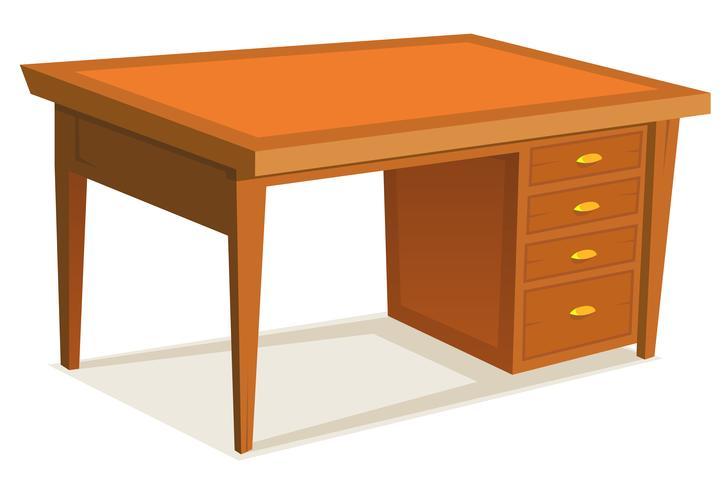 Cartoon-Schreibtisch vektor