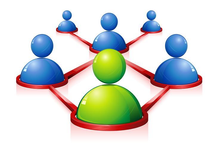 mänskliga nätverk vektor
