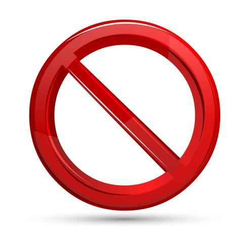 Förbjudet tecken vektor