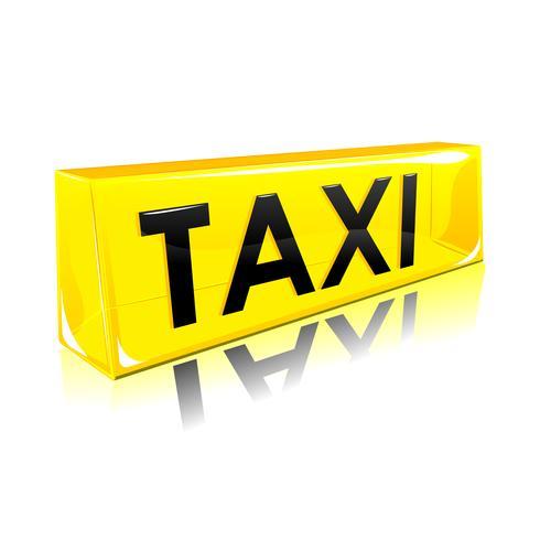 taxisymbol vektor