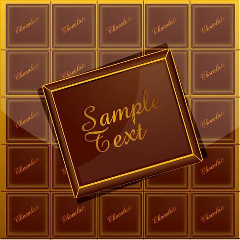 Chokladbakgrund vektor