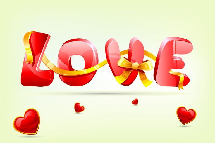 Liebeskarte vektor