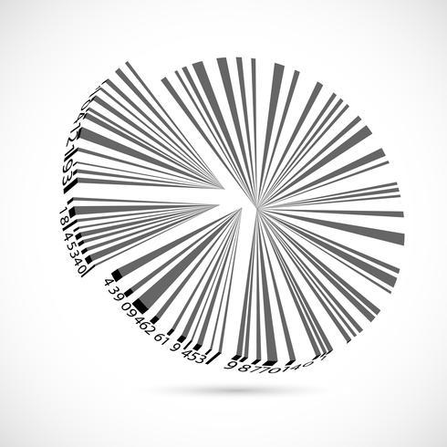 Barcode-Kreisdiagramm vektor