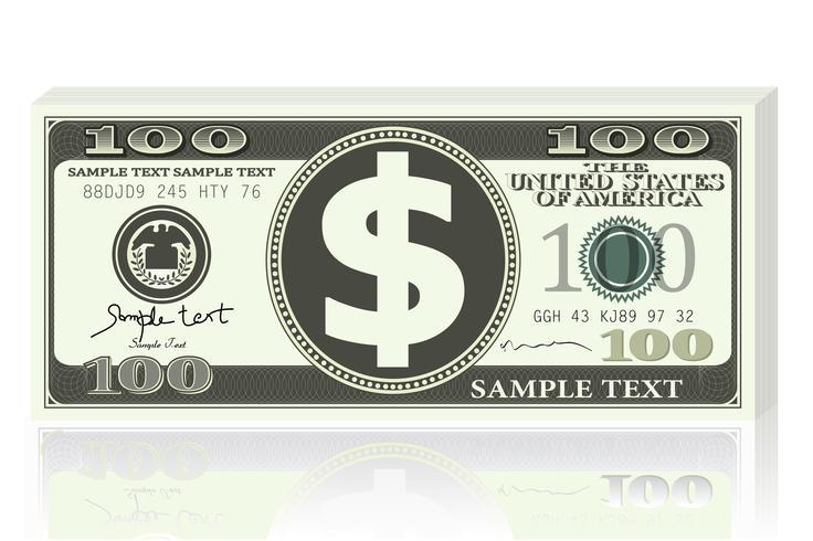 dollarnotering vektor