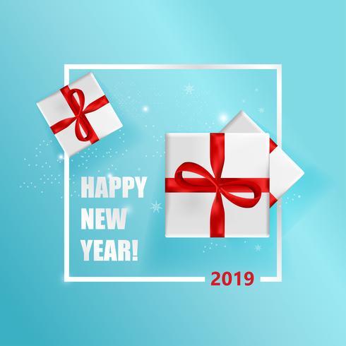Nyår hälsningskort vektor illustration