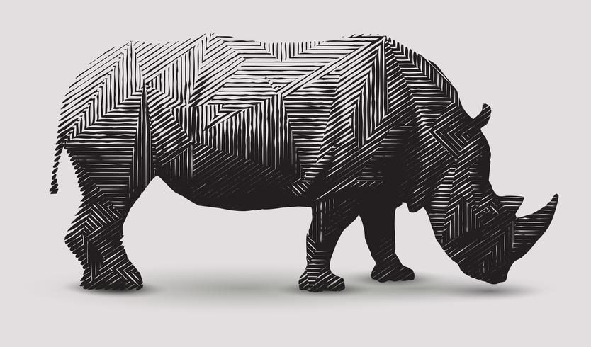 Nashorn-Abbildung. vektor