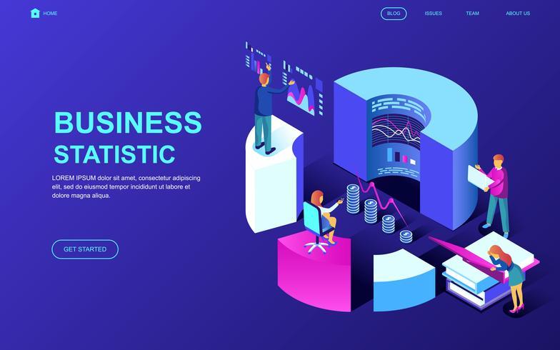 Geschäftsstatistik-Web-Banner vektor