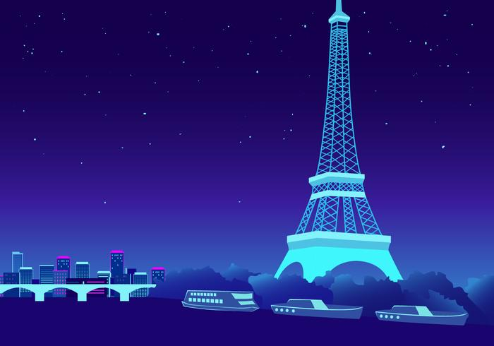 Paris-Vektor-Illustration vektor