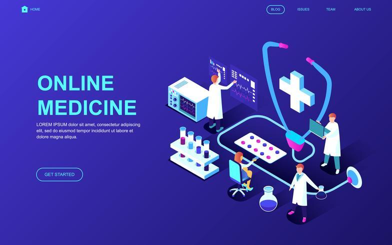 Online-Medizin-Gesundheits-Web-Banner vektor