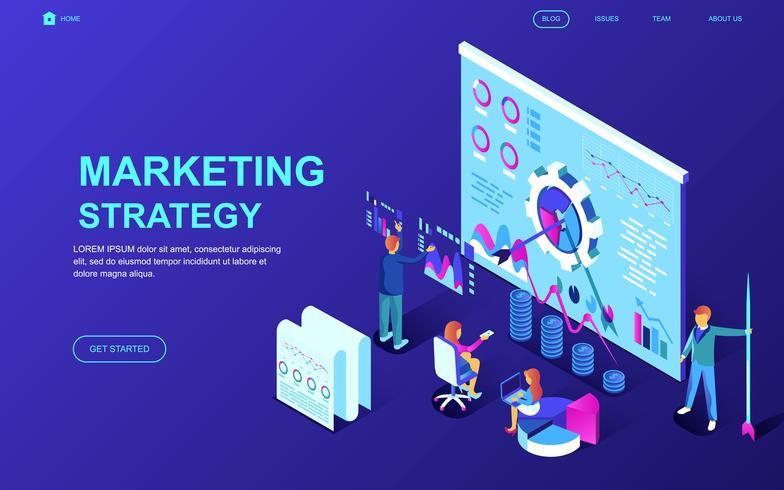 Marketingstrategie-Web-Banner vektor
