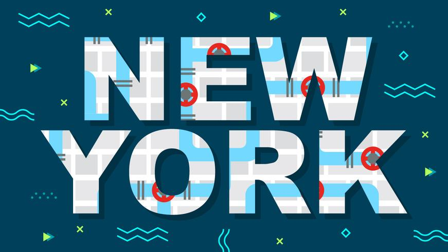 Süße New York Vektoren