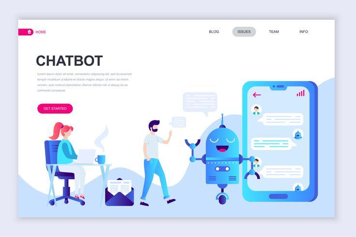 Chatbot Webbanner vektor