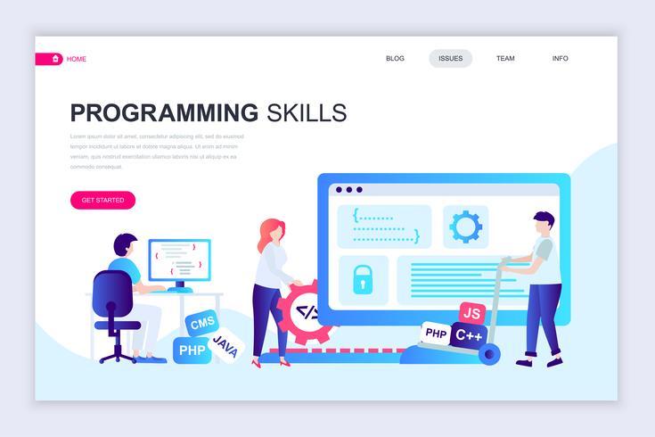 Programmierfähigkeiten Web Banner vektor