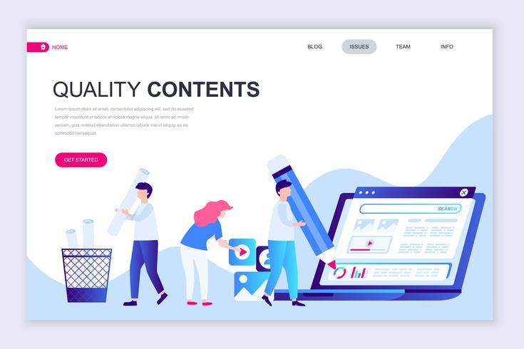 Qualitätsinhalt-Web-Banner vektor