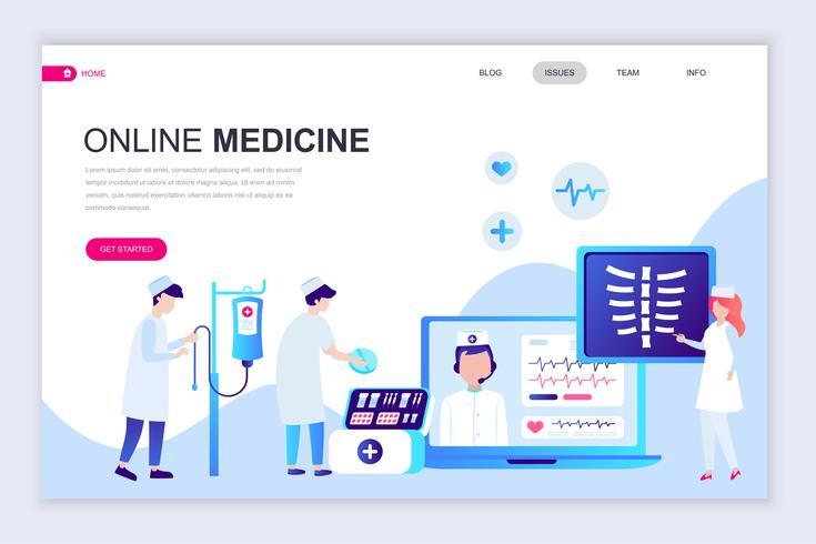 Medicin och sjukvård Webbanner vektor