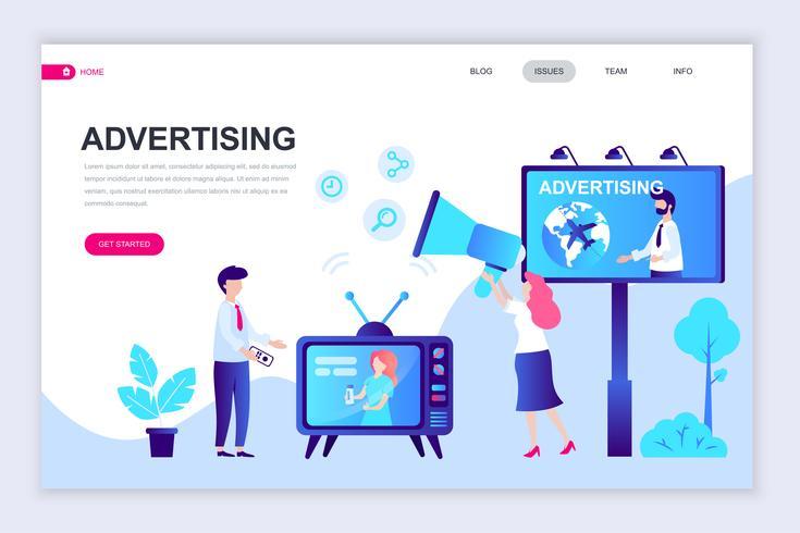 Reklam och reklamwebbanner vektor