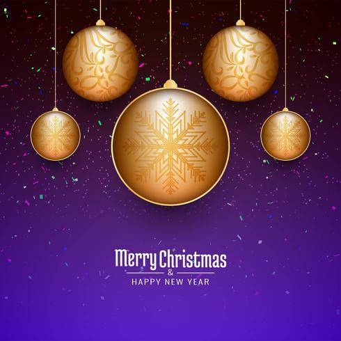 Festival-Feierhintergrund der frohen Weihnachten vektor
