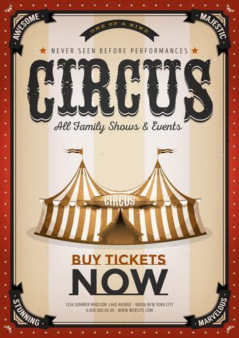 Vintage Golden Circus Bakgrund vektor