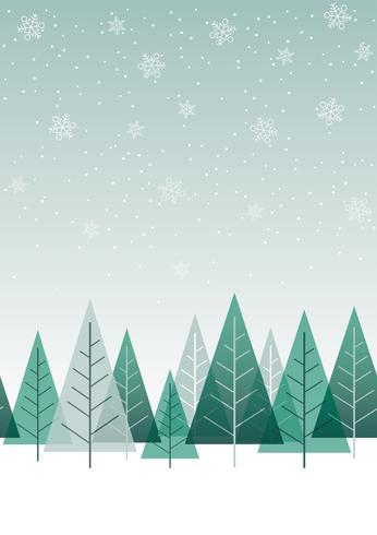 Nahtloser Winterwaldhintergrund, Vektorillustration. vektor