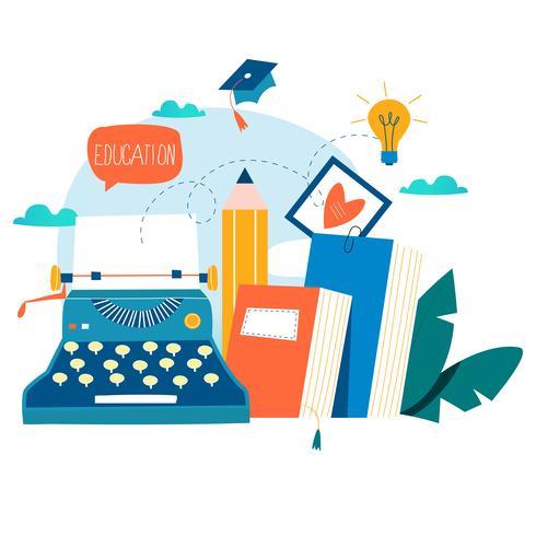 Blogging, utbildning, kreativt skrivande vektor
