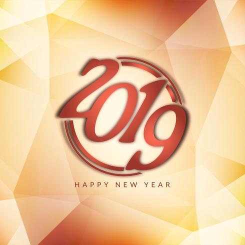 Gott nytt år 2019 elegant hälsning bakgrund vektor