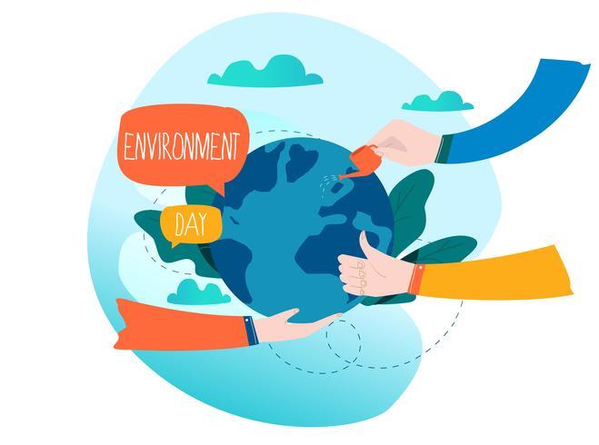 Weltumwelttag Ökologiekonzept vektor