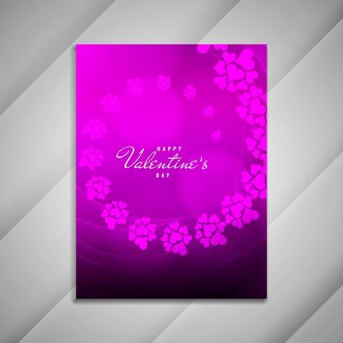 Elegantes Broschüren-Design presentat des abstrakten glücklichen Valentinstags vektor