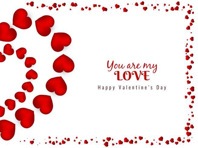 Abstrakt Glad Valentinsdag underbar bakgrund vektor