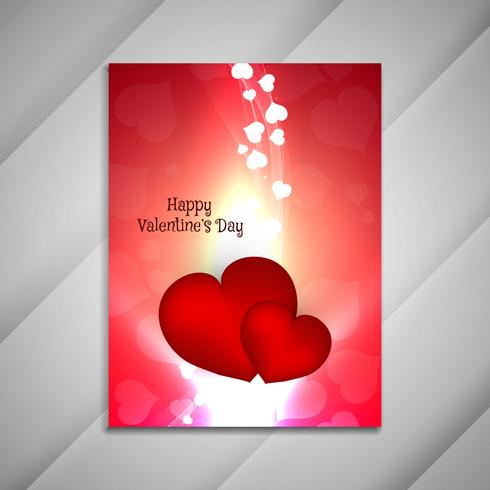 Helles Broschürendesign presentati des abstrakten glücklichen Valentinstags vektor