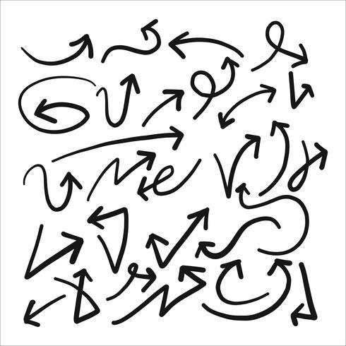 Hand gezeichnete Skizze des Pfeilsatzes vektor