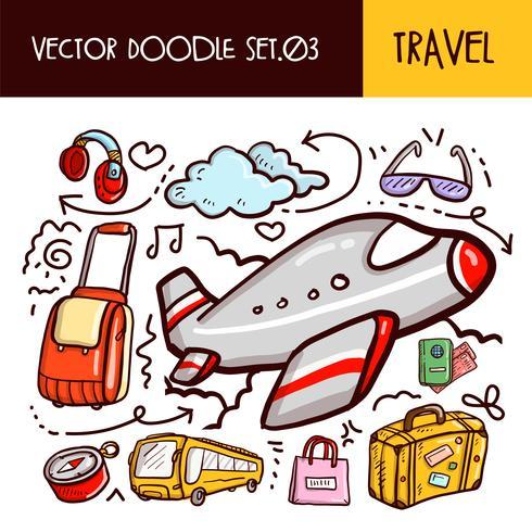 travel doodles icon vektor