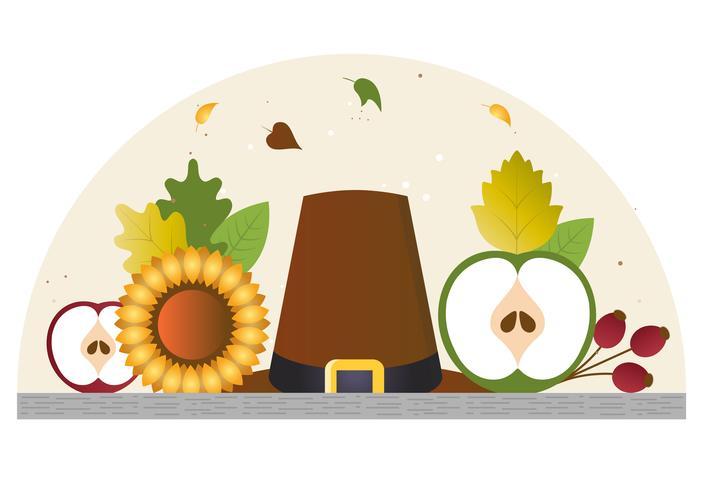 Thanksgiving-Elemente und Zubehör vektor