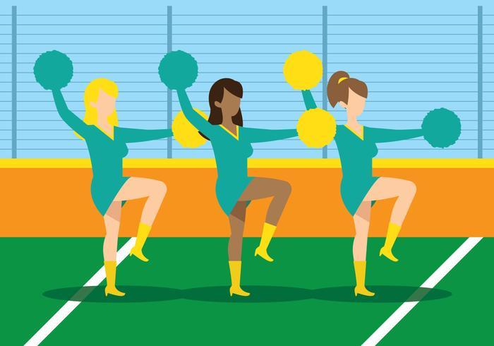 Cheerleader-Team vektor