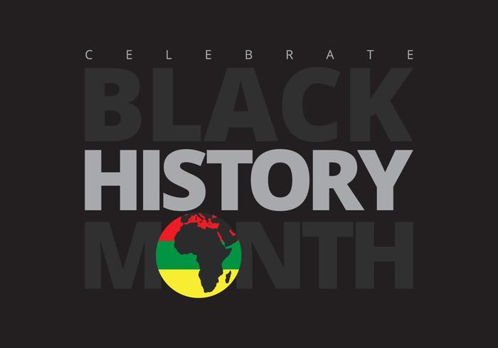 svart historia månad ilustration vektor