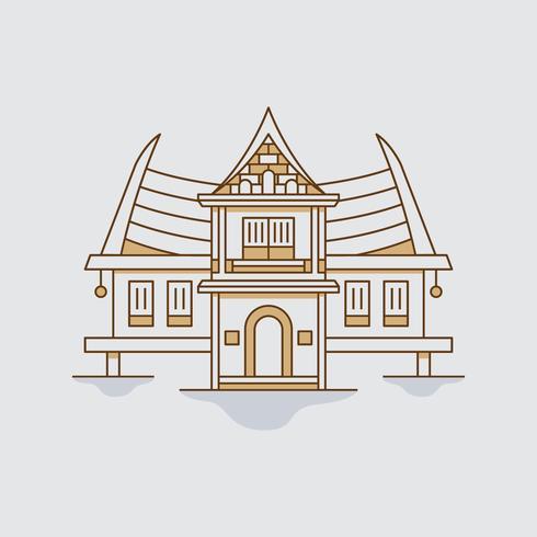 Bangkok Traditionellt Hus vektor