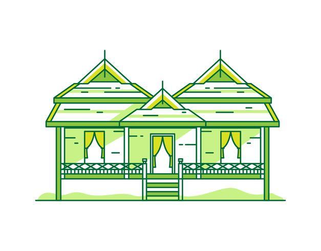 Thailands traditionella hus vektor