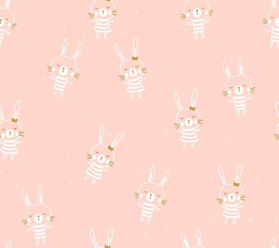 Påsk sömlös mönster design med kaniner vektor