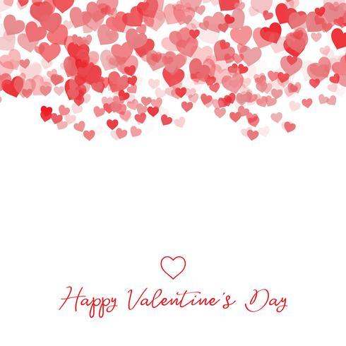 Dekorativa Alla hjärtans dag hjärta bakgrund vektor