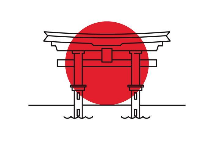 röd grind vektor