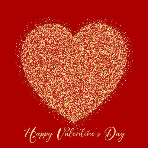 Alla hjärtans dag glitter hjärta vektor