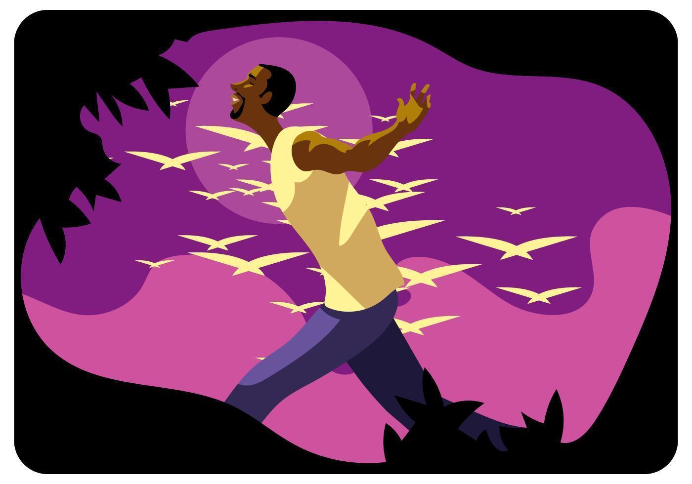 Happy African American Man  vektor