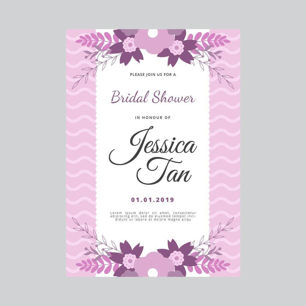 Bridal Shower Invitation Vector Template