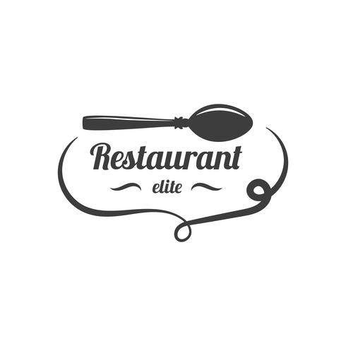 Restaurang Lablel. Mat Service Logo. vektor