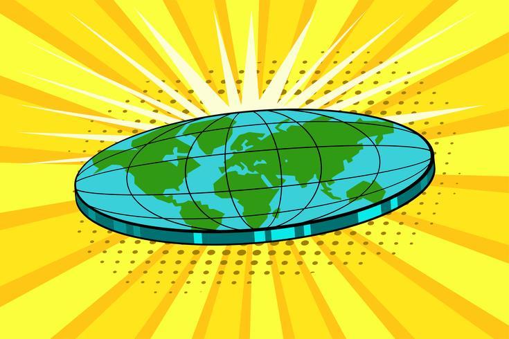 Disk Globe Pop-Art-Stil vektor