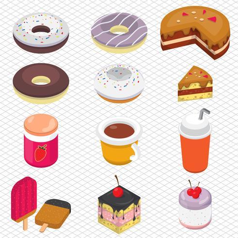illustration av info grafisk dessert koncept vektor