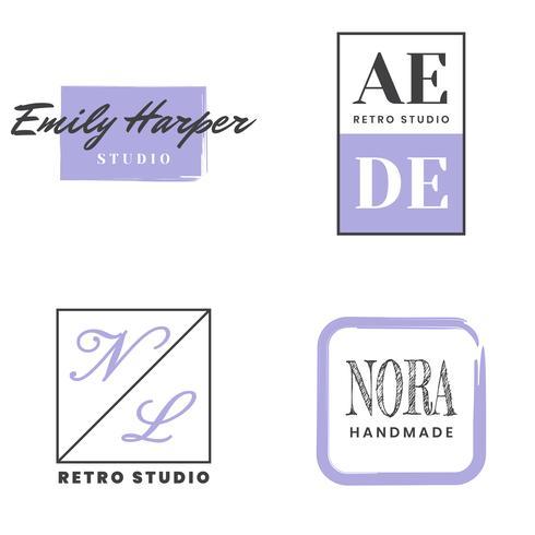 Feminin Vintage Retro Vector Logo