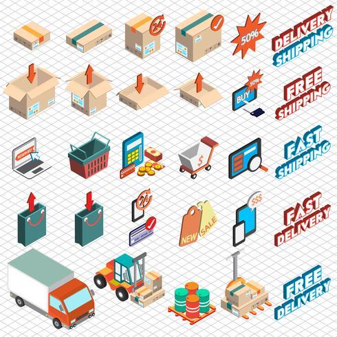 illustration av info grafik leverans ikon koncept vektor